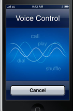Controle vocal iPhone GS